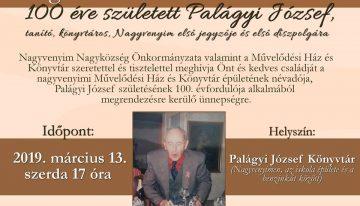 100 éve született Palágyi József